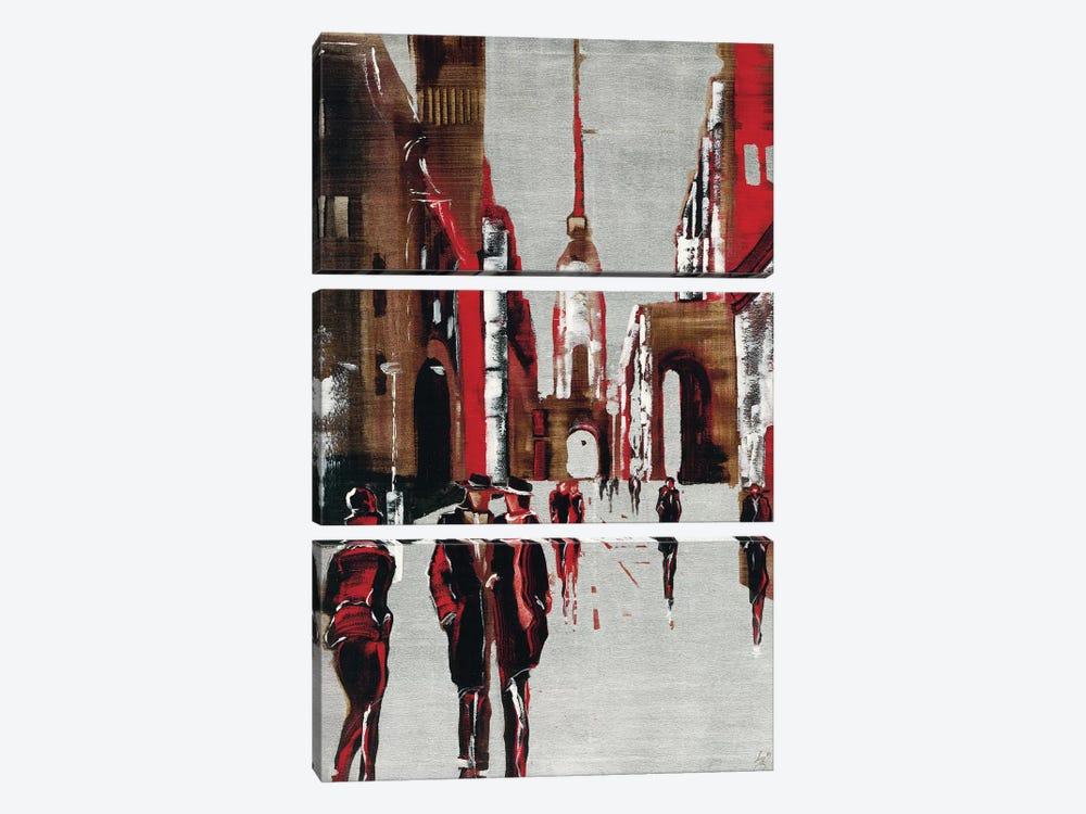 City Scene III by Elena Radzetska 3-piece Canvas Art Print