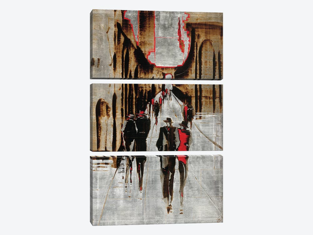 City Scene IV by Elena Radzetska 3-piece Canvas Art