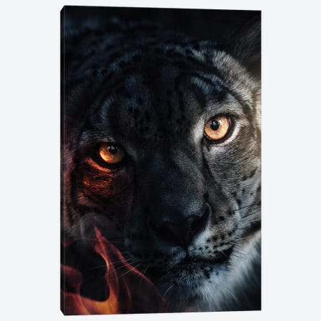 The White Leopard Canvas Print #ZGA113} by Zenja Gammer Canvas Print