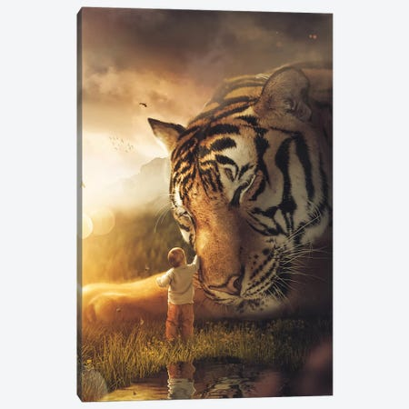 The Giant Tiger Canvas Print #ZGA132} by Zenja Gammer Canvas Art Print