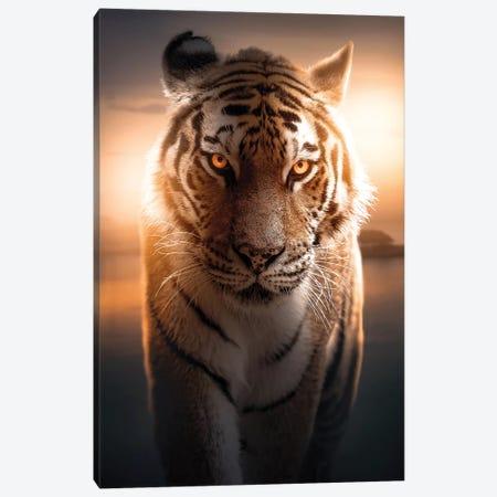 The Glowing Tiger Canvas Print #ZGA134} by Zenja Gammer Canvas Artwork