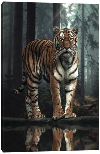 The Tiger In The Forest Canvas Art Print