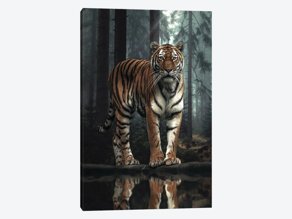 The Tiger In The Forest by Zenja Gammer 1-piece Canvas Art