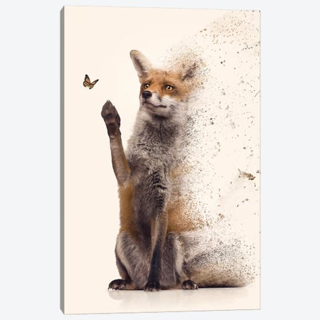 The Dispersion Fox Canvas Print #ZGA140} by Zenja Gammer Canvas Wall Art