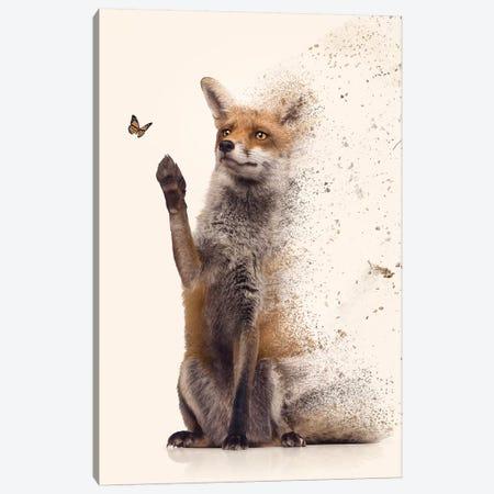 The Dispersion Fox Canvas Print #ZGA140} by Zenja Gammer Canvas Wall Art