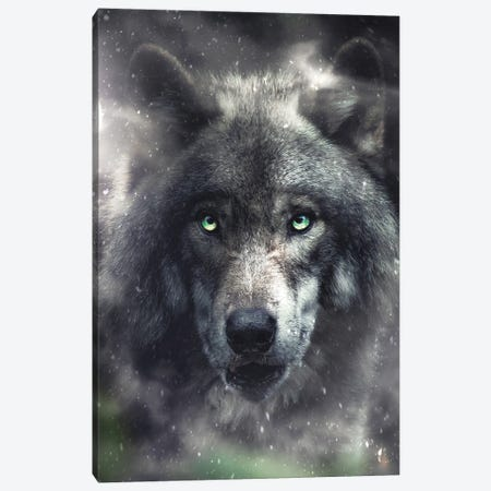 The Hungry Wolf Canvas Print #ZGA152} by Zenja Gammer Canvas Print