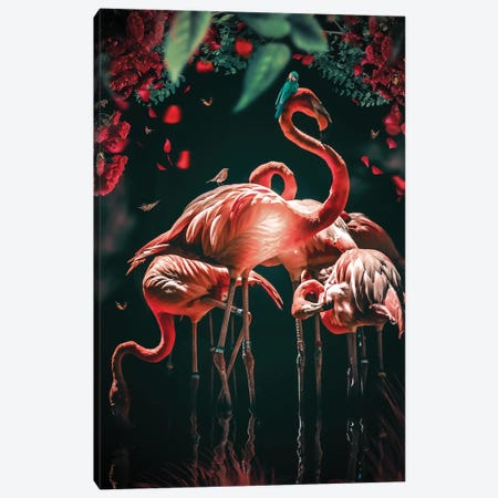 The Glowing Flamingo Canvas Print #ZGA153} by Zenja Gammer Canvas Print