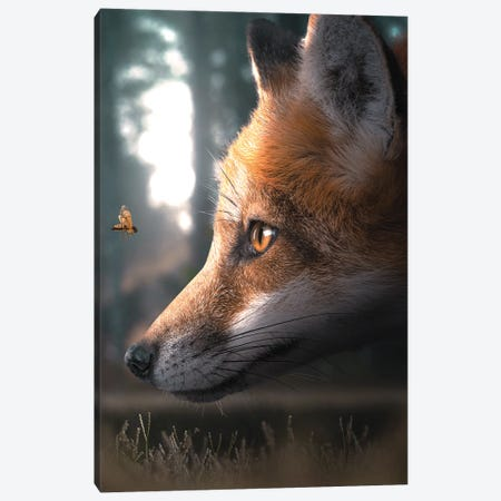 The Fox & The Wasp Canvas Print #ZGA158} by Zenja Gammer Canvas Art Print