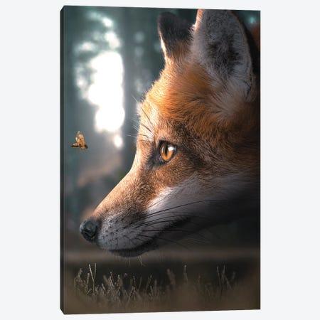 The Fox & The Wasp Canvas Print #ZGA158} by Zenja Gammer Canvas Art Print
