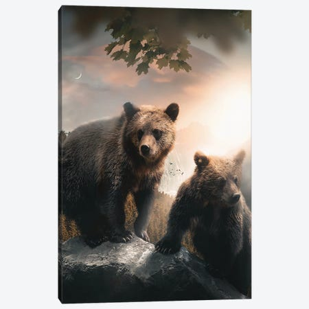 A Beartiful Day 3-Piece Canvas #ZGA161} by Zenja Gammer Canvas Artwork