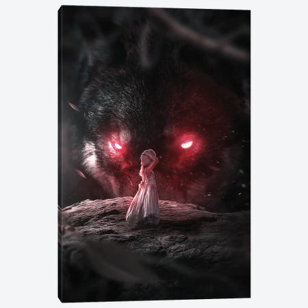 Lost In The Dark Canvas Print #ZGA163} by Zenja Gammer Canvas Artwork