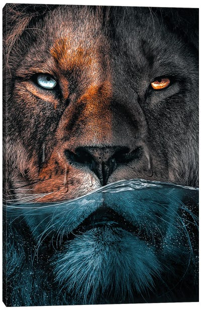 Badass Lion Canvas Art Print