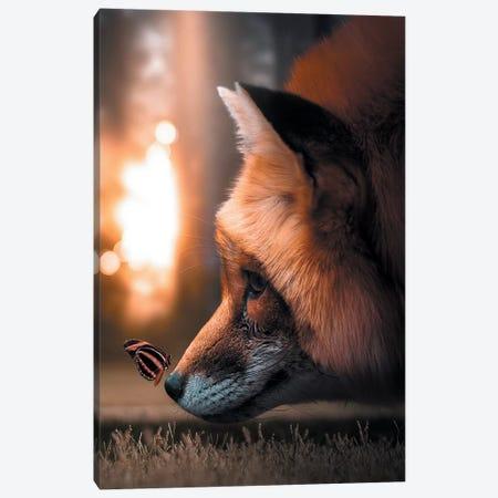 Fox Butterfly Canvas Print #ZGA17} by Zenja Gammer Canvas Art