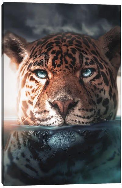 Underwater Jaguar Canvas Art Print