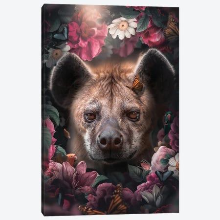 Floral Hyena Canvas Print #ZGA201} by Zenja Gammer Canvas Art Print