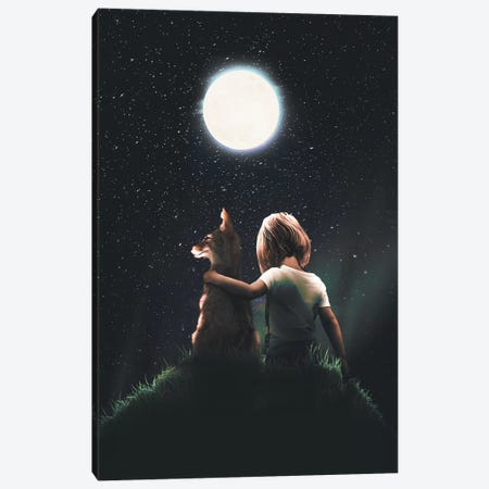 Fox Little Prince Canvas Print #ZGA21} by Zenja Gammer Canvas Art