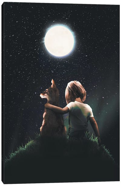 Fox And The Prince Canvas Art Print