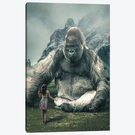 Gorilla Model Canvas Print #ZGA24} by Zenja Gammer Art Print