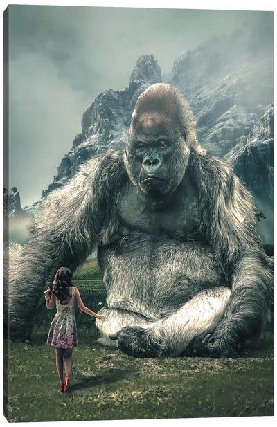 Gorilla Model Canvas Art Print