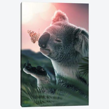 Koala Butterfly Canvas Print #ZGA25} by Zenja Gammer Art Print