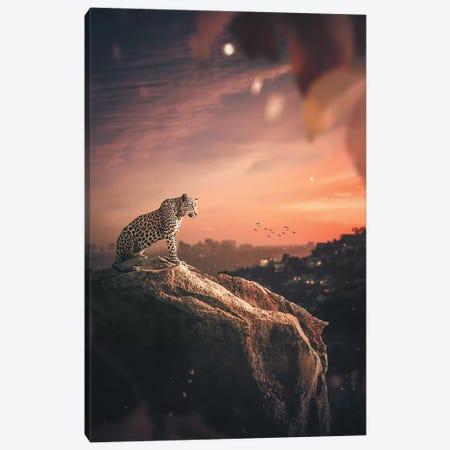 Leopard La Canvas Print #ZGA28} by Zenja Gammer Canvas Wall Art