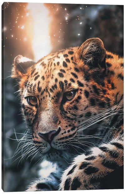 Leopard Sparkles Canvas Art Print