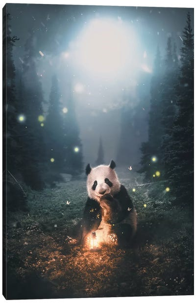 Panda Forest Canvas Art Print