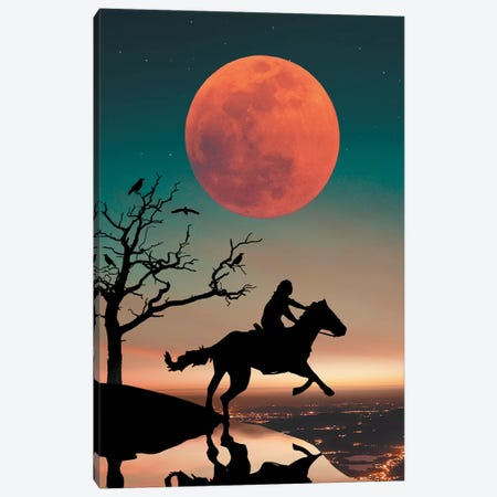 Red Moon Horse Canvas Print #ZGA46} by Zenja Gammer Canvas Art Print