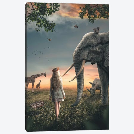 The Zoo Canvas Print #ZGA49} by Zenja Gammer Canvas Art