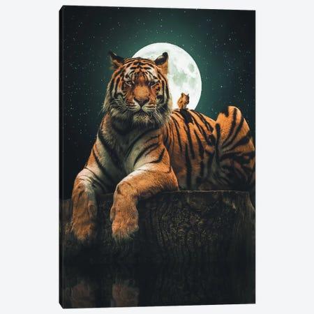 Tiger Squirrel Canvas Print #ZGA52} by Zenja Gammer Art Print