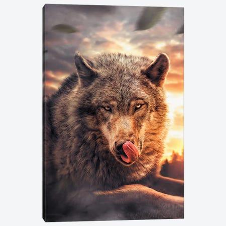 Wolf Canvas Print #ZGA57} by Zenja Gammer Canvas Artwork