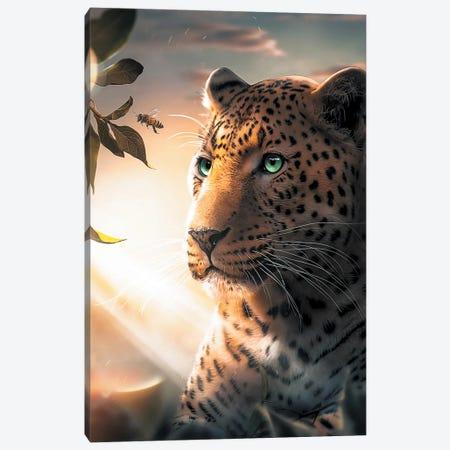 Leopard Wasp Canvas Print #ZGA58} by Zenja Gammer Art Print