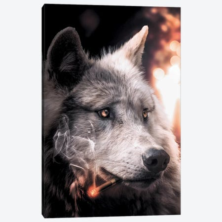 Big Bad Wolf Canvas Print #ZGA5} by Zenja Gammer Canvas Art Print