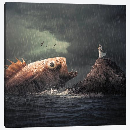 Big Fish Canvas Print #ZGA68} by Zenja Gammer Canvas Wall Art
