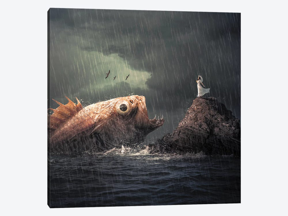 Big Fish by Zenja Gammer 1-piece Art Print
