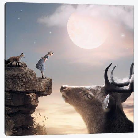 Big Deer Fox Canvas Print #ZGA6} by Zenja Gammer Canvas Art Print