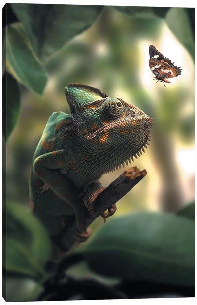 Chameleon Butterfly Canvas Art Print