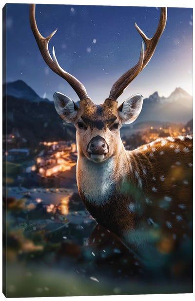The Beautiful Deer Canvas Art Print