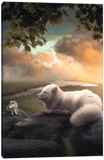 The Arctic Foxes Canvas Art Print