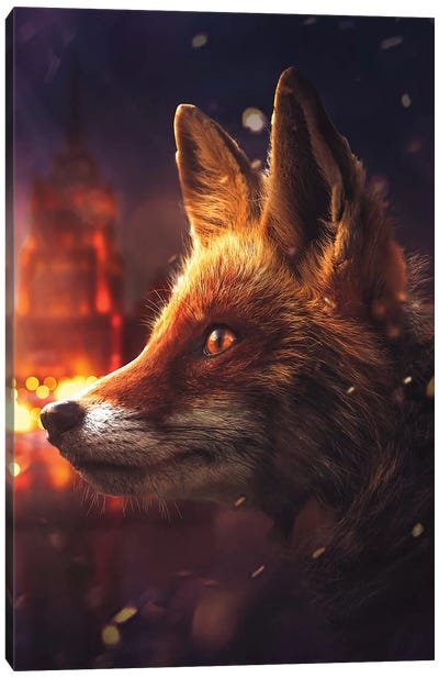 The Fox In Moscow Canvas Art Print