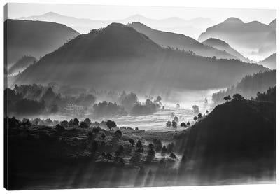 Misty Sea Of Clouds Canvas Art Print