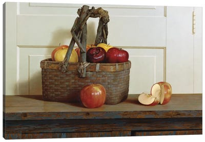 Still Life With Apples Canvas Art Print
