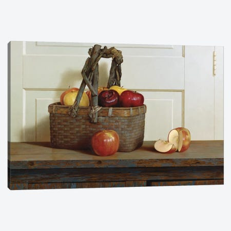 Still Life With Apples Canvas Print #ZHL104} by Zhen-Huan Lu Art Print