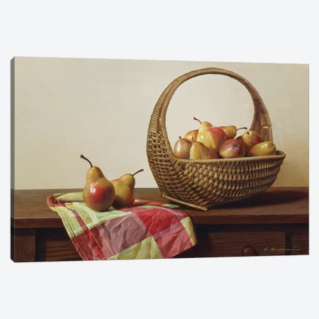 Still Life With Pears Canvas Print #ZHL105} by Zhen-Huan Lu Art Print