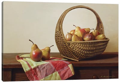 Still Life With Pears Canvas Art Print