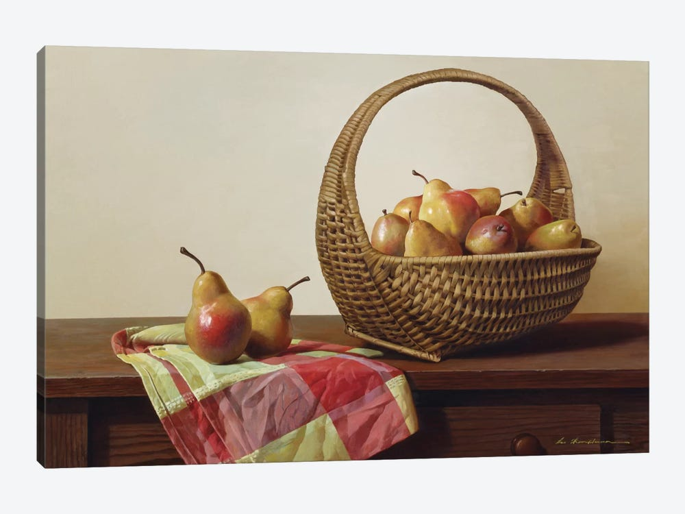 Still Life With Pears by Zhen-Huan Lu 1-piece Canvas Art Print