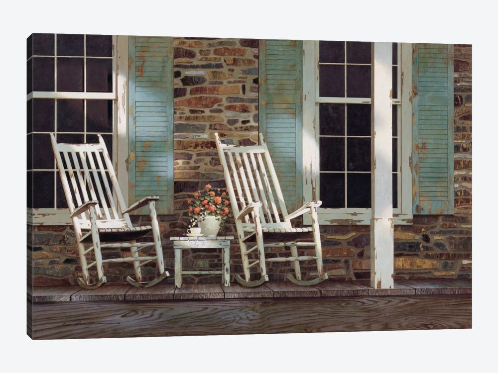 Stone House 1-piece Canvas Wall Art