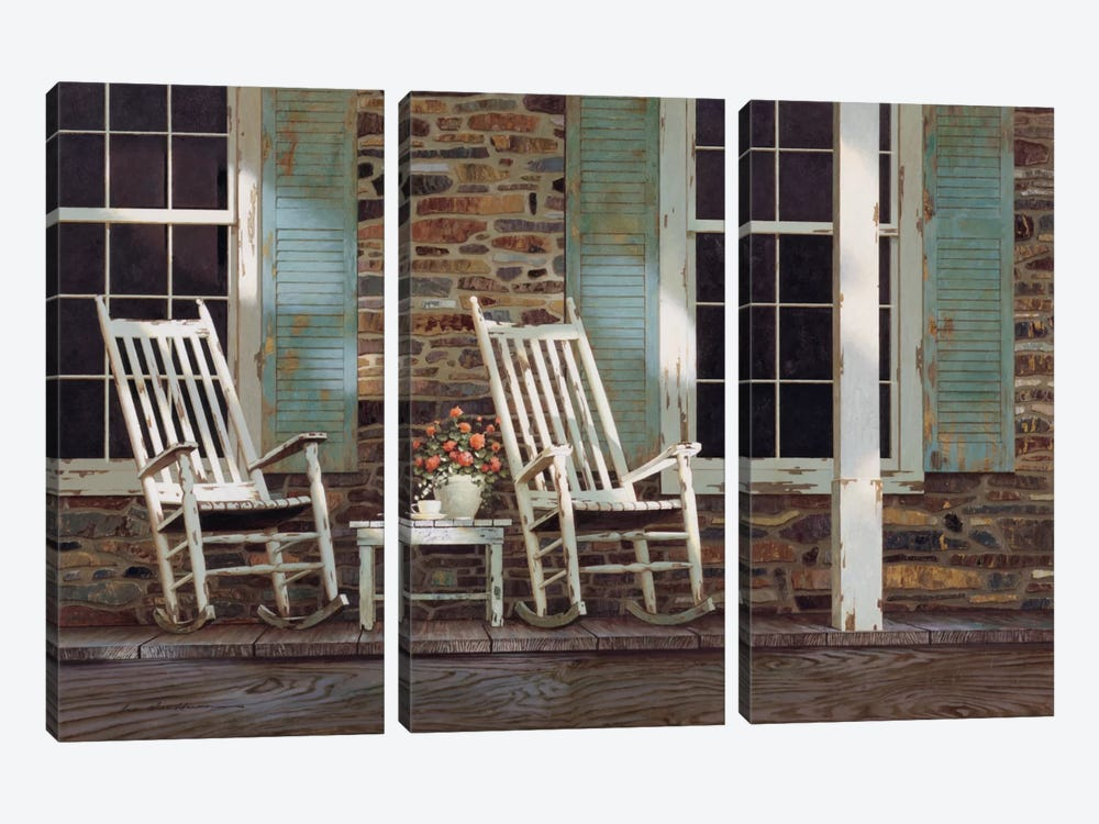 Stone House 3-piece Canvas Wall Art