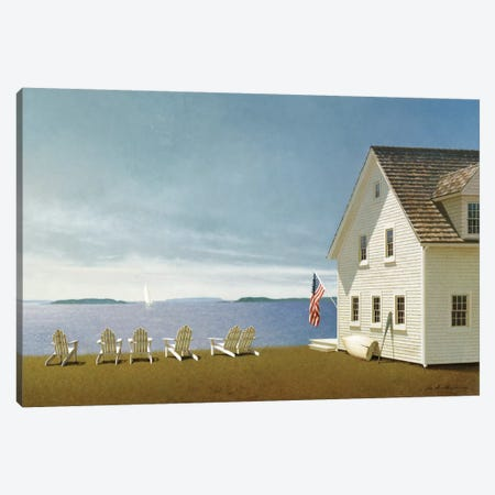 Summer Retreat Canvas Print #ZHL108} by Zhen-Huan Lu Canvas Art