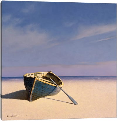 Beached Boat II Canvas Art Print